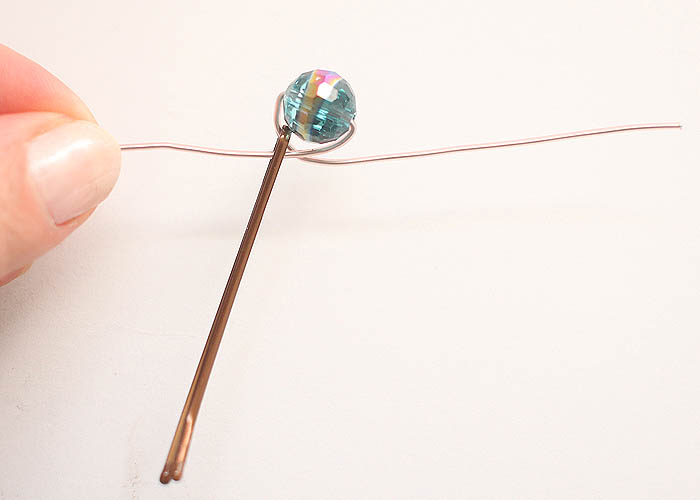 Wire Wrapped Beaded Hair Pins DIY - Gina Michele