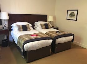 inside the twin bedroom at Linden Hall Hotel Northumberland