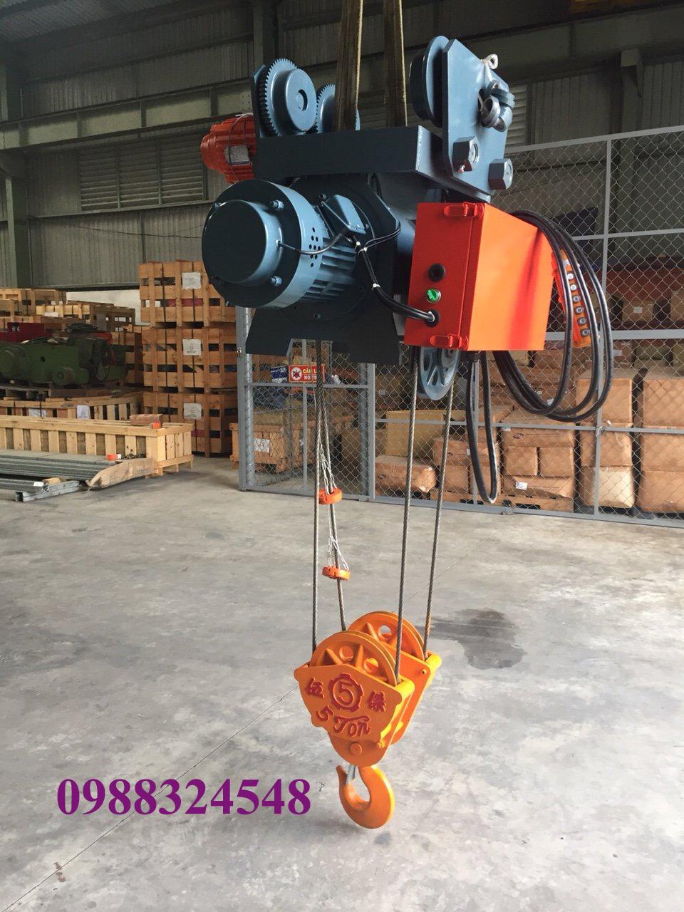palang điện cáp Fitop dầm đơn 5 tấn