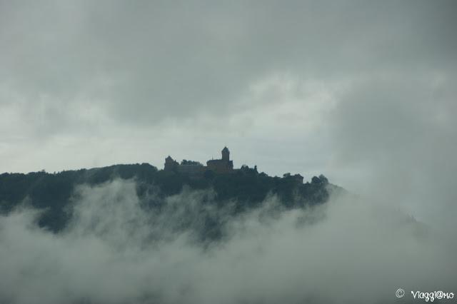 Vista del castello dell'Haut Koenigsbourg