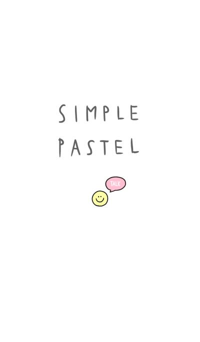 simple pastel theme.