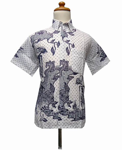 gambar model baju hem batik