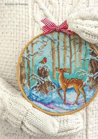 Magic of a winter -cross stitch project  pattern free