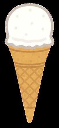 アイスクリームのイラスト(コーン1)