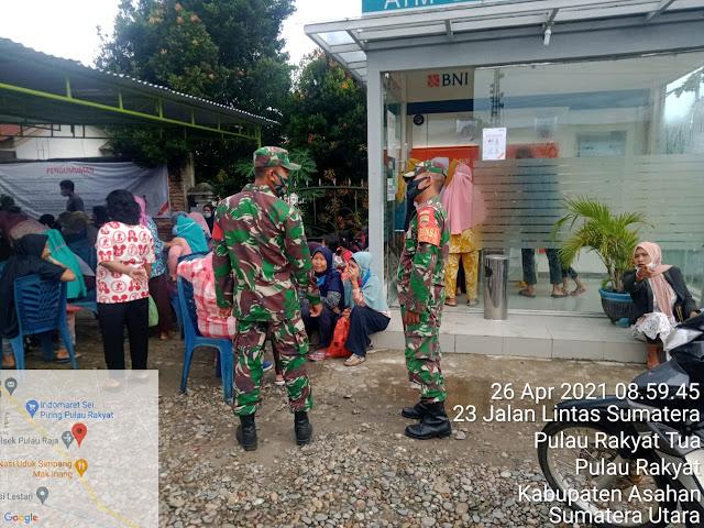 Personel Jajaran Kodim 0208/Asahan Laksanakan Pengamanan UMKM
