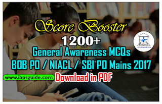1200+ IMPORTANT GENERAL AWARENESS QUESTION BANK