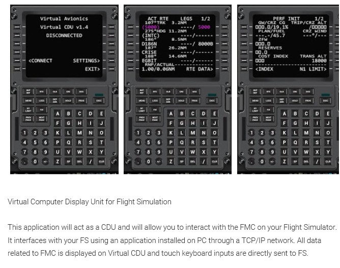 South West Flight Simulation: Virtual Avionics CDU for FSX