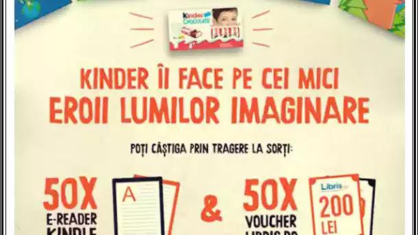 Câștigători concurs KINDER Lumea imaginara 2020 e-reader Kindle pe www.kinder.com