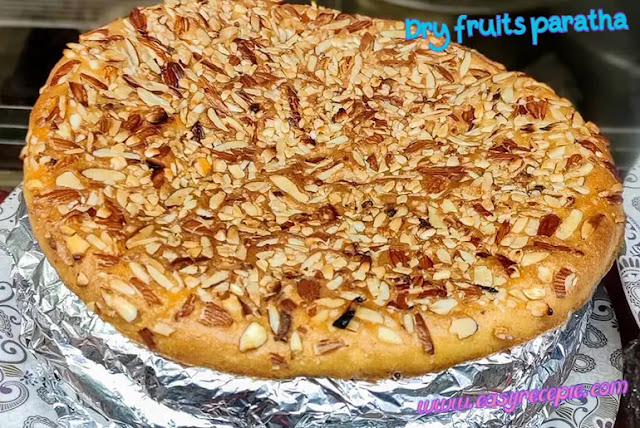 A different and unique recipe for making dry fruits paratha