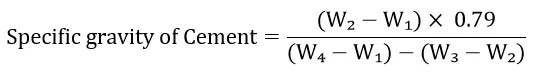 Specific Gravity of Cement by Le-Chatelier Method, IS 4031-Part 11-1988