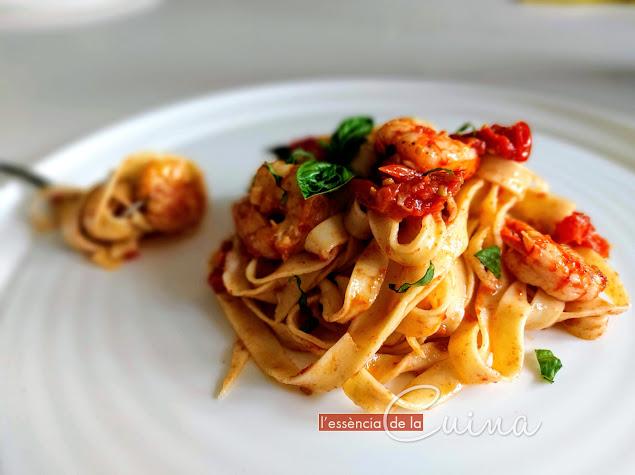 Pasta Fresca Xerries i Gamba Vermella, Tallarines, Cuina Casolana, L'Essència_de_la_Cuina, Blog de cuina de la Sónia