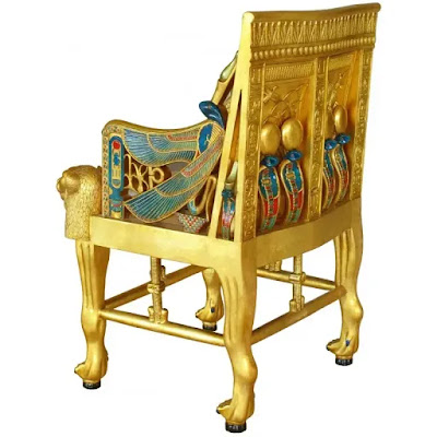 The golden throne of Tut Ankh Amun