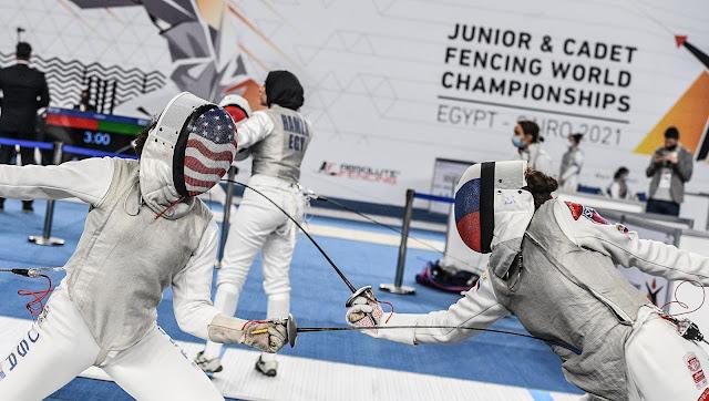 russia eua esgrima campeonato mundial juvenil de florete no cairo