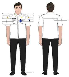 pakaian dinas PNS 2020 warna putih hitam laki-laki