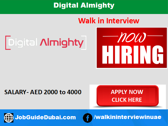 Digital Almighty career for Business development Executive jobs in Dubai UAE