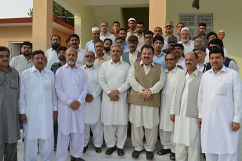 Group Photo with PTI Leader Yousef Ayub Khan and Malik Ashiq Awan - Awan Colony