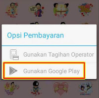 Bayar menggunakan google play