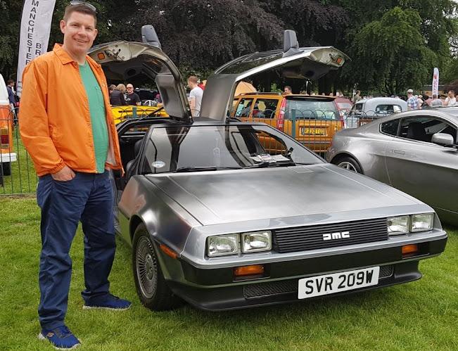 DeLorean at the 2019 Didsbury & South Manchester Car Show
