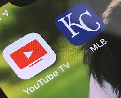 Screen Shot of YoutTube TV and MLB Apps