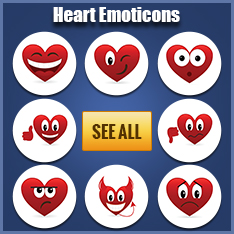 Heart emoticons for Facebook