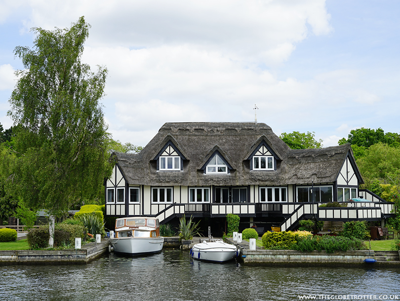 The village of Horning in Norfolk Broads