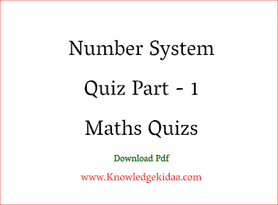 number system Quiz Part - 1