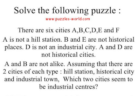 Six Cities Puzzle