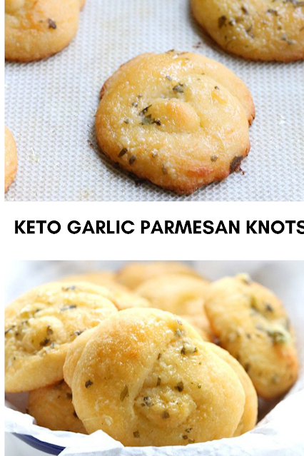 KETO GARLIC PARMESAN KNOTS