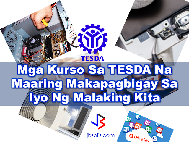 "TESDA has been a great help for people who did not had the opportunity to obtain bachelors degree or finished their studies. With TESDA, you can have certification after your desired skills training and you can use it right away to start your career in business or employment. There various skills training available but these TESDA courses has high probability in improving your life and career.   Computer Systems Servicing We are surrounded by computers and in fact, every household has it. When it fails, only a handful has knowledge on how to troubleshoot computer problems. Learning this skill could give you a promising income. You don't even need much resources to jumpstart. You can use your TESDA certificate in offering your services.  Heating, Ventilation and Air Conditioning Service This is one of the most sought courses because it promises rewarding income here and abroad. Air conditioning units requires regular maintenance and having TESDA HVAC certificate could find you a job with very handsome income.  Microsoft Online Courses  This course offered by TESDA has been opening great opportunities to people who are computer savvy. Here you will learn how to create a website or create your own game apps. A very good income potential is on your way after completing the course.  Food and Beverage Servicing  TESDA certificate could be a game changer for you since many establishments here and abroad favored those who are certified by TESDA. Completing a Food and Beverage training could pave your way for a better income opportunities here and abroad.  Massage Therapy  After a tiring day, everyone needs a relaxing massage and they are willing to pay for the skillful hands that could render it to them. Completing and passing TESDA training for Massage Therapy could make you a professional massage therapist and it means higher income as well.  Cellphone Servicing  And who does not have a cellular phone nowadays? Yes , mobile phone users are rising. Just like computers and any gadgets, mobile phones could wear off over time. Having the skills to put them back to life again is a promising income generating opportunity especially if you had completed a course at TESDA in Cellphone Servicing .    TESDA offers courses that can be very useful for you and there will be unlimited possibilities ahead of you. Just choose the one which you believe you can excel. Just arm your passion with determination and you can achieve anything. To check if your desired course is provided by TESDA, click here and type your course or training program.  Read More:     China's plans to hire Filipino household workers to their five major cities including Beijing and Shanghai, was reported at a local newspaper Philippine Star. it could be a big break for the household workers who are trying their luck in finding greener pastures by working overseas  China is offering up to P100,000  a month, or about HK$15,000. The existing minimum allowable wage for a foreign domestic helper in Hong Kong is  around HK$4,310 per month.  Dominador Say, undersecretary of the Department of Labor and Employment (DOLE), said that talks are underway with Chinese embassy officials on this possibility. China's five major cities, including Beijing, Shanghai and Xiamen will soon be the haven for Filipino domestic workers who are seeking higher income.  DOLE is expected to have further negotiations on the launch date with a delegation from China in September.   according to Usec Say, Chinese employers favor Filipino domestic workers for their English proficiency, which allows them to teach their employers' children.    Chinese embassy officials also mentioned that improving ties with the leadership of President Rodrigo Duterte has paved the way for the new policy to materialize.  There is presently a strict work visa system for foreign workers who want to enter mainland China. But according Usec. Say, China is serious about the proposal.   Philippine Labor Secretary Silvestre Bello said an estimated 200,000 Filipino domestic helpers are  presently working illegally in China. With a great demand for skilled domestic workers, Filipino OFWs would have an option to apply using legal processes on their desired higher salary for their sector. Source: ejinsight.com, PhilStar Read More:  The effectivity of the Nationwide Smoking Ban or  E.O. 26 (Providing for the Establishment of Smoke-free Environment in Public and Enclosed Places) started today, July 23, but only a few seems to be aware of it.  President Rodrigo Duterte signed the Executive Order 26 with the citizens health in mind. Presidential Spokesperson Ernesto Abella said the executive order is a milestone where the government prioritize public health protection.    The smoking ban includes smoking in places such as  schools, universities and colleges, playgrounds, restaurants and food preparation areas, basketball courts, stairwells, health centers, clinics, public and private hospitals, hotels, malls, elevators, taxis, buses, public utility jeepneys, ships, tricycles, trains, airplanes, and  gas stations which are prone to combustion. The Department of Health  urges all the establishments to post ""no smoking"" signs in compliance with the new executive order. They also appeal to the public to report any violation against the nationwide ban on smoking in public places.   Read More:          ©2017 THOUGHTSKOTO www.jbsolis.com SEARCH JBSOLIS, TYPE KEYWORDS and TITLE OF ARTICLE at the box below Smoking is only allowed in designated smoking areas to be provided by the owner of the establishment. Smoking in private vehicles parked in public areas is also prohibited. What Do You Need To know About The Nationwide Smoking Ban Violators will be fined P500 to P10,000, depending on their number of offenses, while owners of establishments caught violating the EO will face a fine of P5,000 or imprisonment of not more than 30 days. The Department of Health  urges all the establishments to post ""no smoking"" signs in compliance with the new executive order. They also appeal to the public to report any violation against the nationwide ban on smoking in public places.          ©2017 THOUGHTSKOTO  Dominador Say, undersecretary of the Department of Labor and Employment (DOLE), said that talks are underway with Chinese embassy officials on this possibility. China's five major cities, including Beijing, Shanghai and Xiamen will soon be the destinfor Filipino domestic workers who are seeking higher income. ©2017 THOUGHTSKOTO www.jbsolis.com SEARCH JBSOLIS, TYPE KEYWORDS and TITLE OF ARTICLE at the box below"