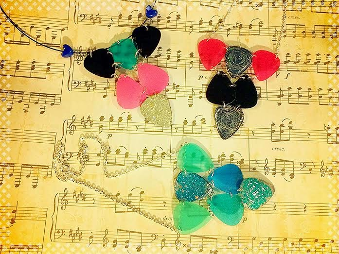 Choker Style Guitar Pick Necklaces