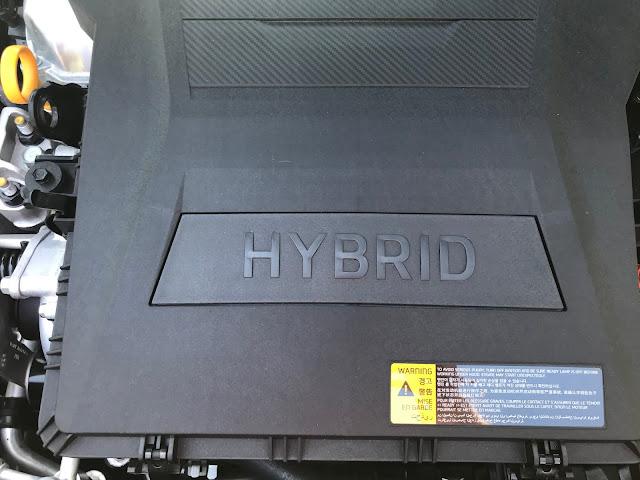 Engine detail in 2020 Hyundai Ioniq HEV Limited