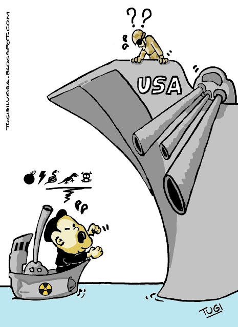 Resultado de imagem para KOREA X USA: cHARGES