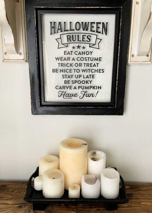 Halloween Home Decor - wall art, halloween rules