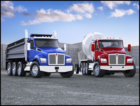 Kenworth T880 Mixer and T880 Dump Trucks
