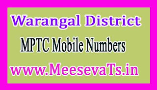 Kodakandla Mandal MPTC Mobile Numbers List Warangal District in Telangana State