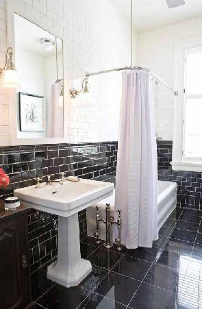 this or that: the black & white bathroom! | nbaynadamas