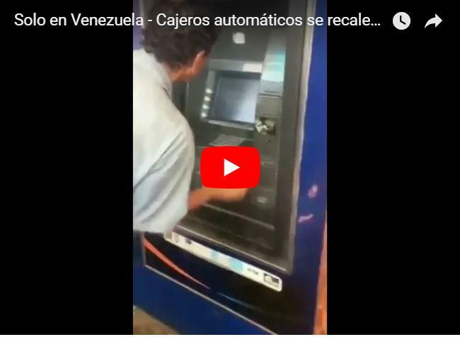 Cajeros automáticos en Venezuela botan humo por falta de mantenimiento