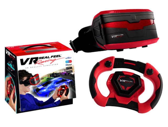 Affordable VR Real Feel Virtual Reality Car Racing Gaming System with Bluetooth Steering Wheel and Headset