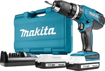 Makita klopboor en schroefmachine met 2 accu's en oplader