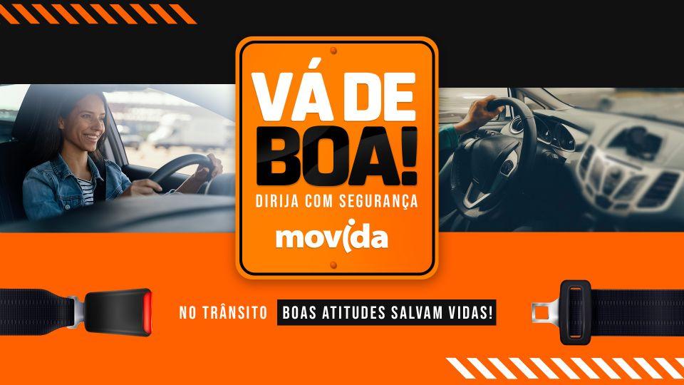 """Movida lança campanha """"Vá de Boa"""" em prol de um trânsito mais seguro"""
