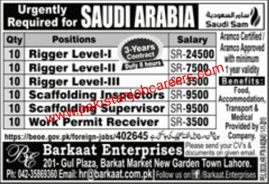 Latest Urgently Required For Saudi Arabia Jobs 2019