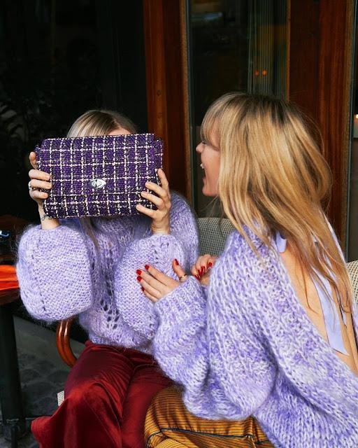 Ganni Lilac Sweater