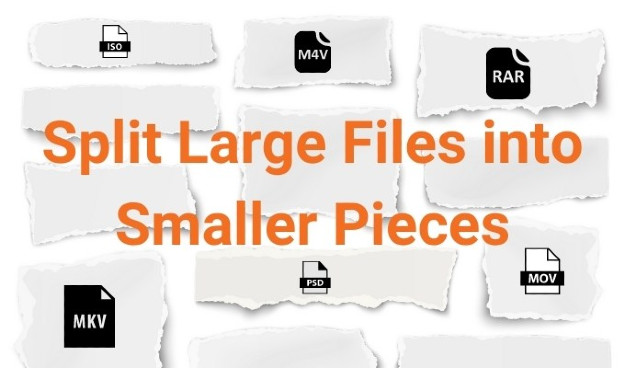 μεγάλα αρχεία σε μικρότερα κομμάτια για αποστολή