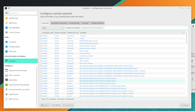 SystemD KDE Pĺasma Manjaro