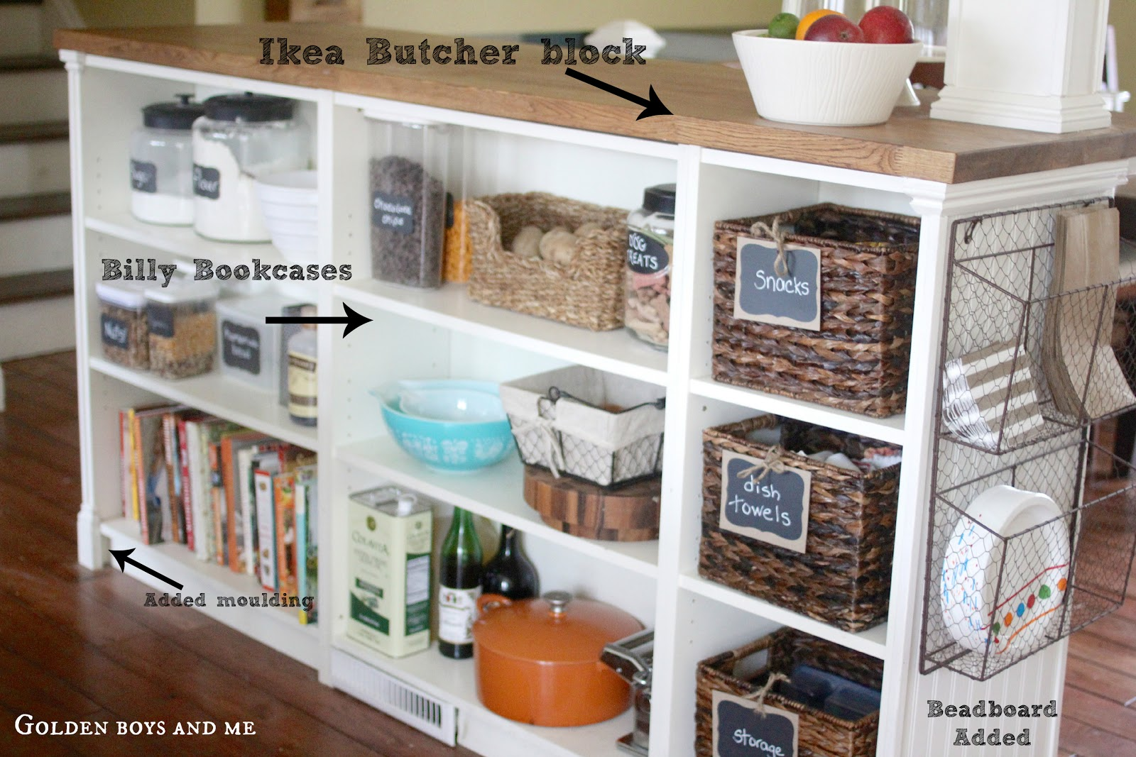 Golden Boys and Me: Kitchen Island {Ikea Hack}