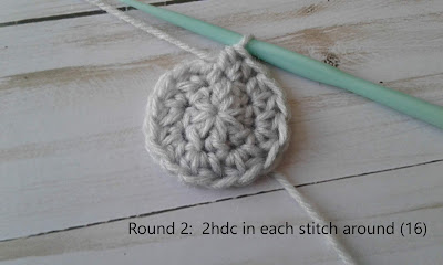 half double crochet two times in each stitch around