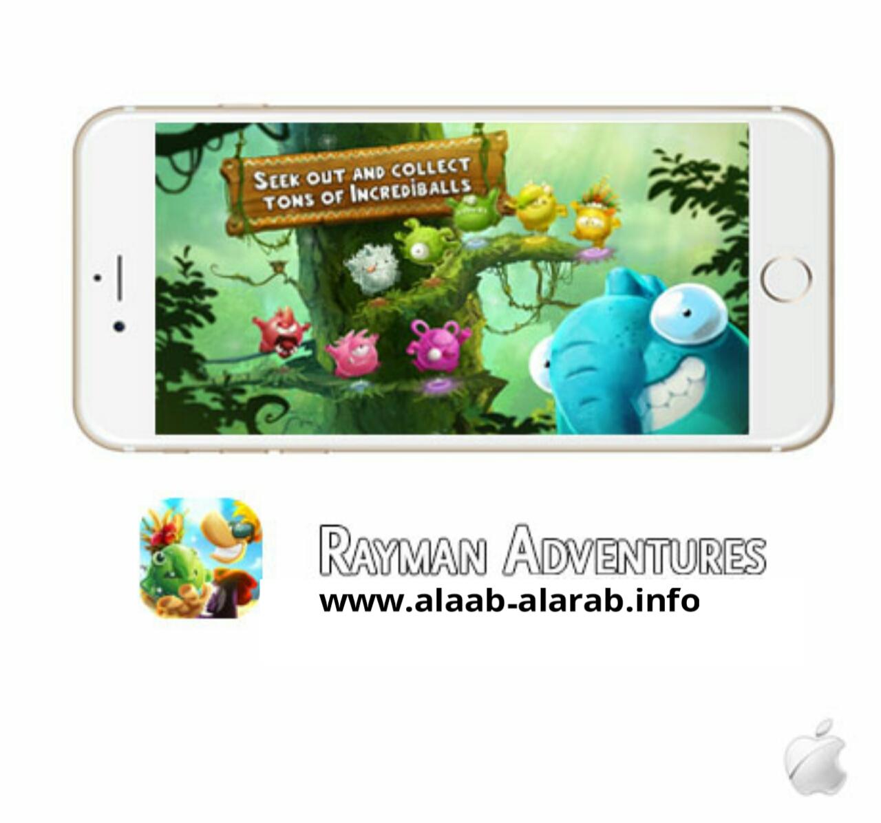 تحميل لعبة Rayman Adventures 1.6.2 لهواتف الأيفون