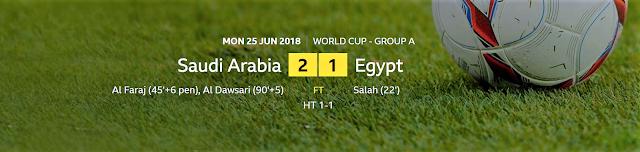 FIFA World Cup 2018: Saudi Arabia 2 - 1 Egypt | Al-Dawsari Snatches Win For Saudi Arabia Against Egypt