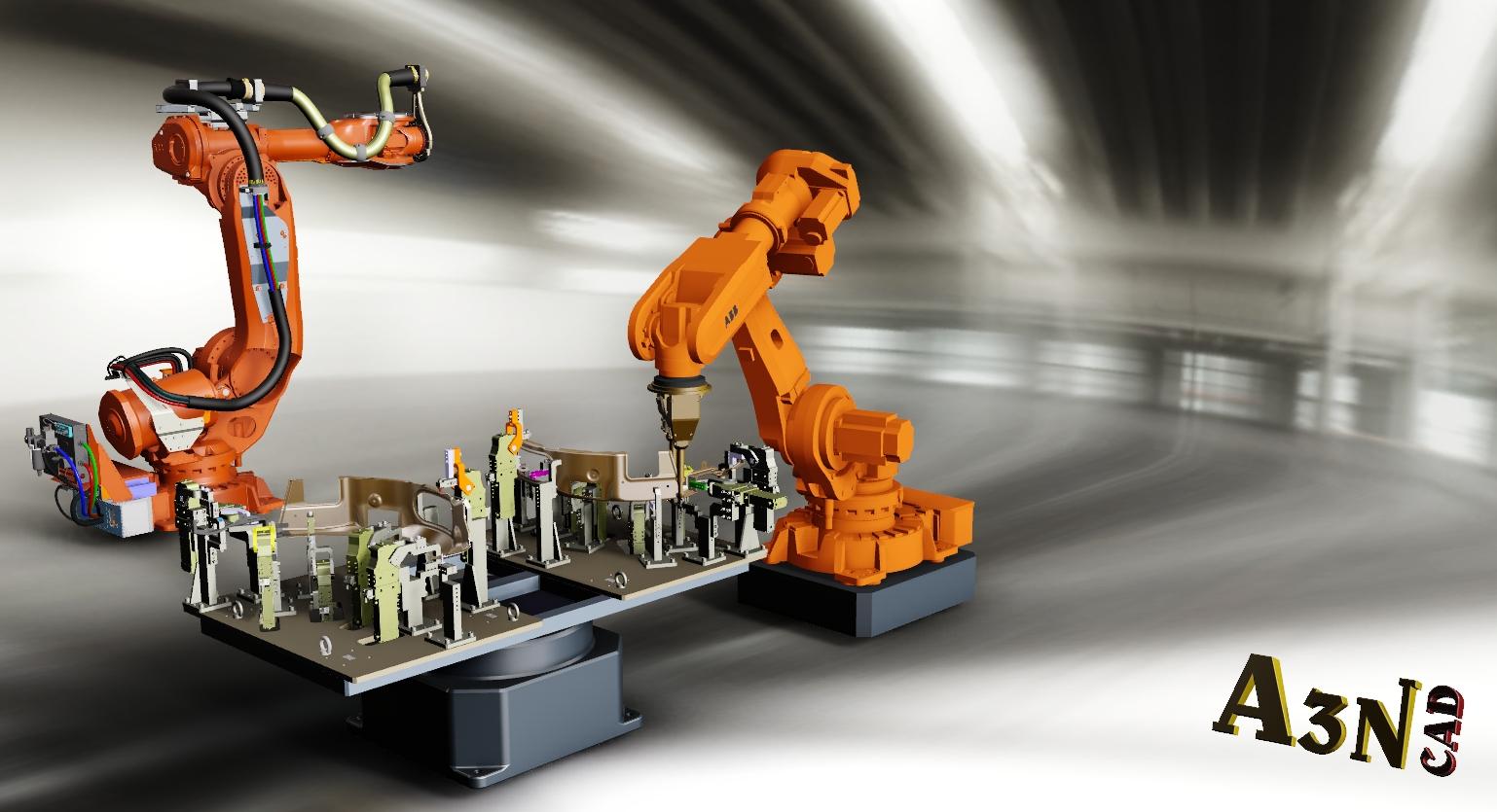 5026  Robot with weldingstation || download free 3D cad models