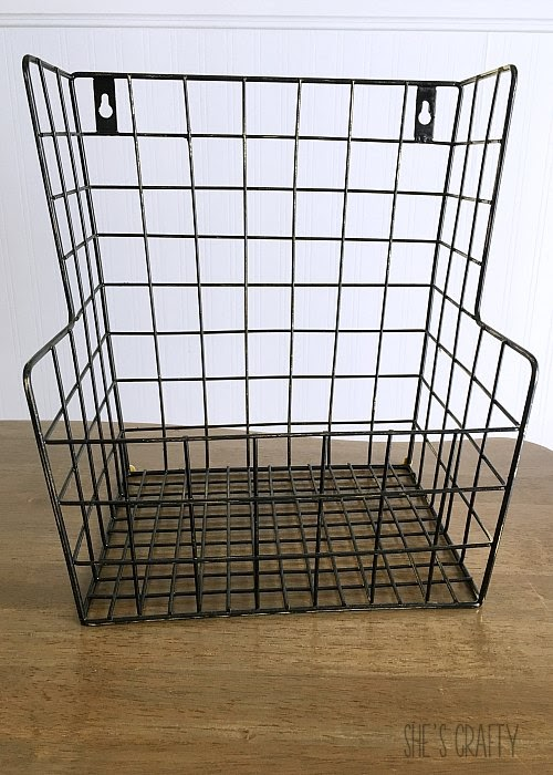 Hanging Produce Storage - spray paint metal basket